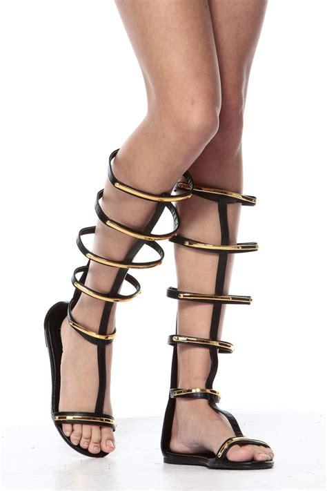 black and gold gladiator sandals black and gold gladiator inspired sandals cicihot