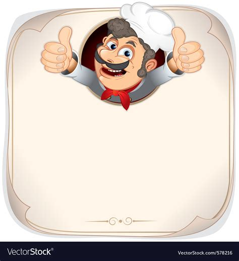 chef background chef with menu background royalty free vector image