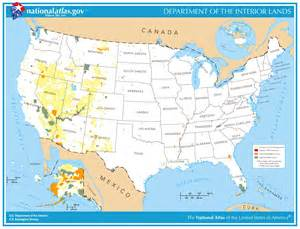 printable map department of the interior lands