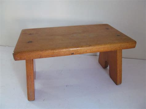 Antique Wooden Step Stool by Vintage Wooden Step Stool Haute Juice