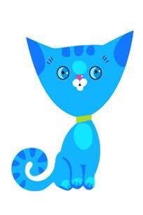 dibujos color gatos
