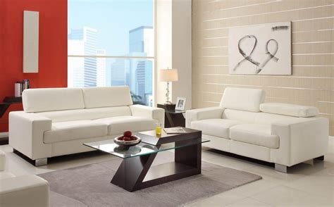 sitting room couches gerald modern living room furniture set white bonded leather sofa loveseat last reviews