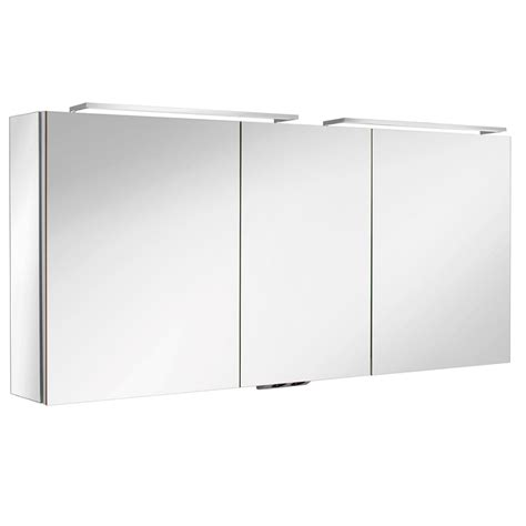 armoires de toilette sanijura armoire de toilette box 140cm 3 portes miroir