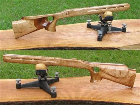 laminated rifle stock using maple walnut cherry by