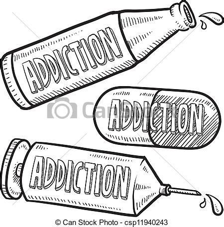 imagenes para dibujar sobre el alcoholismo eps vector de droga alcohol adicci 243 n bosquejo