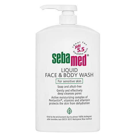 Bath And Shower Gel sebamed liquid face amp body wash 1l amcal