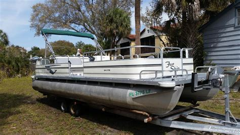 used pontoon boats for sale sarasota 1998 used grumman funship 24 pontoon boat for sale
