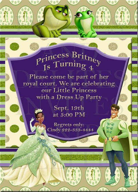 princess and the frog birthday printables omg gift emporium - Princess And The Frog Invitations Printable