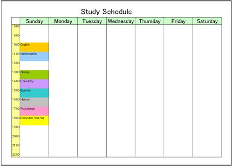 study plan template meeting schedule template excel calendar template 2016