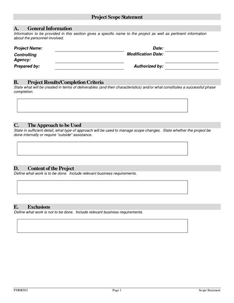 Project Scope Template Tristarhomecareinc Project Forms Free Templates