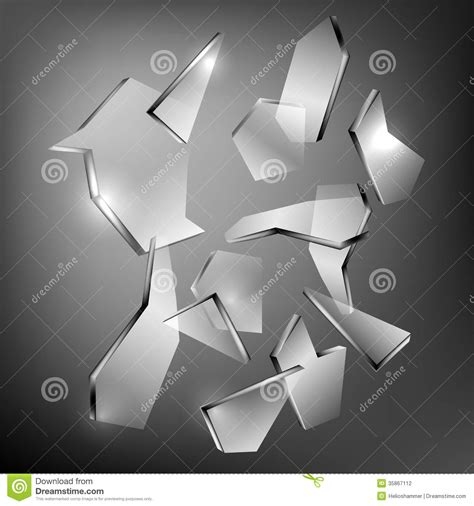 Glass Pieces broken glass stock photography image 35867112