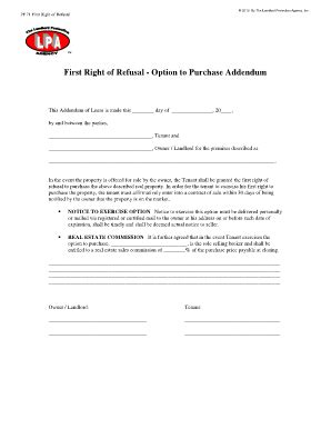 Lease Extension Addendum Forms And Templates Fillable Printable Sles For Pdf Word Right Of Refusal Contract Template