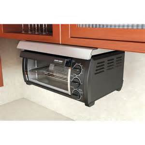 Under Cabinet Mounted Toaster Oven Under Cabinet Toaster Oven Black