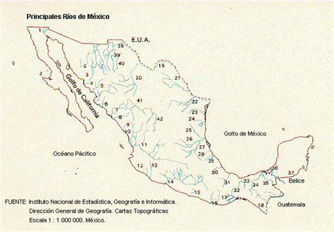 mapa de mexico con rios sicia