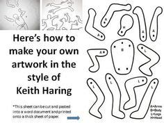 keith haring figure templates keith haring projets artistiques and pour enfants on