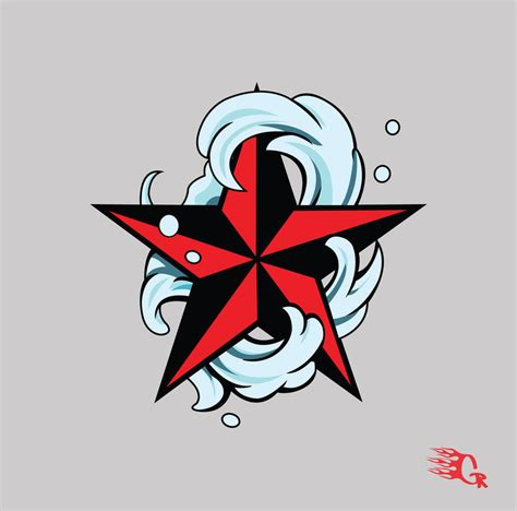 star tattoo drawing designs nautical design by gaberios on deviantart