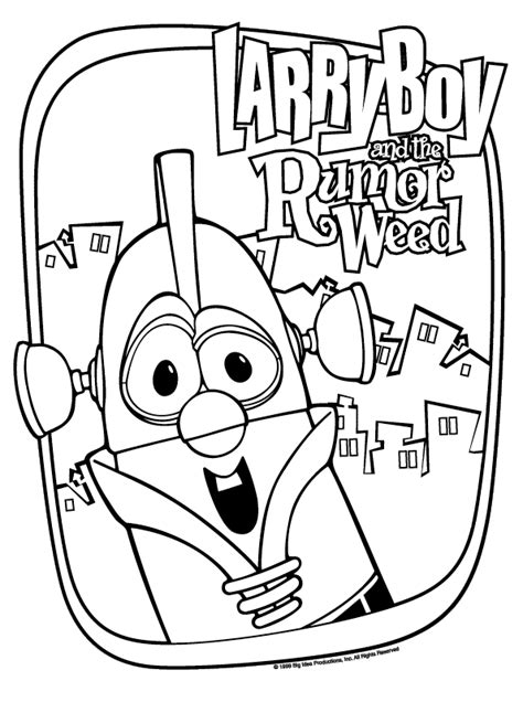coloring pages of larry boy free fib veggie tales coloring pages