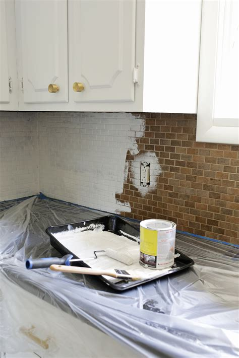 How To Paint Tile Backsplash In Kitchen by How To Paint A Tile Backsplash A Beautiful Mess