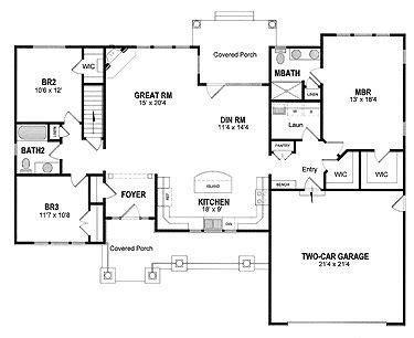 59 inspirational open kitchen floor plan house floor plans house open layout ranch house plans inspirational best 25 open