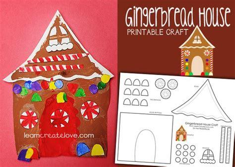 printable gingerbread house craft learncreatelove