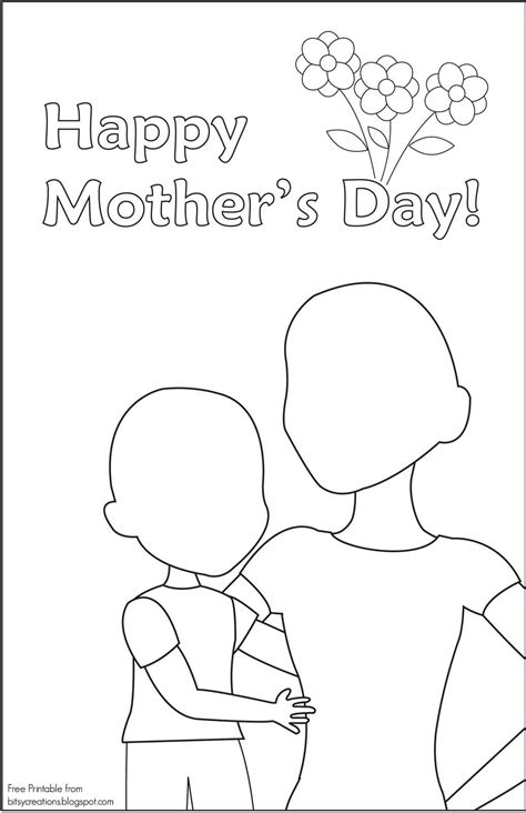 simple s day card activities with templates for 6th graders mothers day card to draw color in bitsycreations
