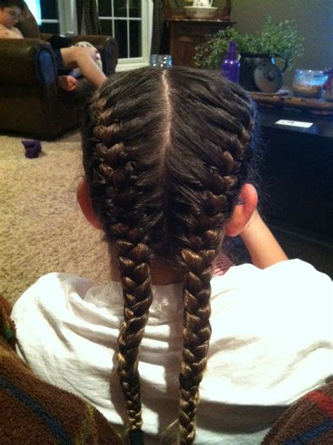 how to do two french braids wit weave double french braid hairstyles for kids pinterest