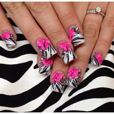zebra pattern nail design 27 dise 241 os de u 241 as con lazos en 3d ε dise 241 os de u 241 as