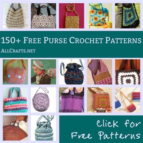 all crafts 150 free purse and tote crochet patterns allcrafts free