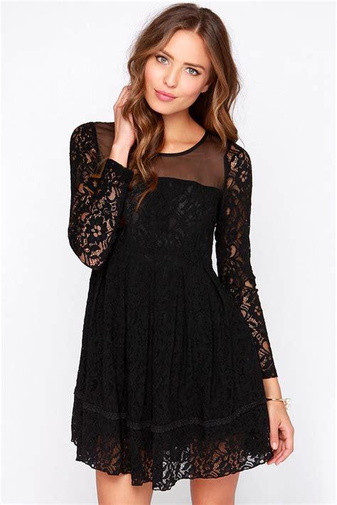 gurdon black dress long sleeve dress lace dress