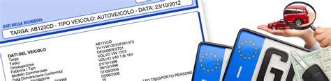 dati pra visura pra la richiedi on line tramite il numero di targa