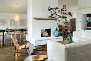 Living Room With White Brick Fireplace White Brick Kitchen Fireplace Design Ideas
