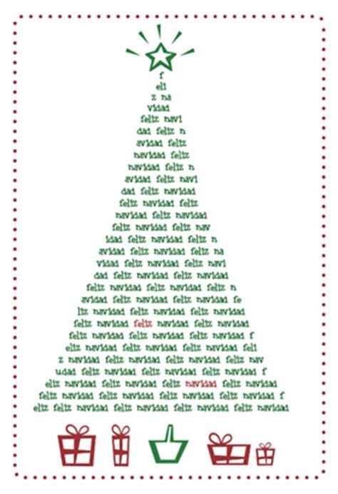 arbol de navidad tarjeta destacada para imprimir gratis