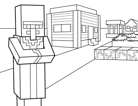 Minecraft Village Coloring Page | minecraft coloring pages best coloring pages for kids
