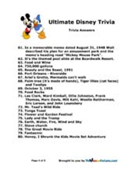 movie theme quiz with answers disney trivia page two