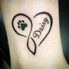 infinity tattoo with dog paw image result for infinity paw print tattoo paw print