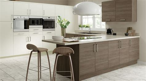 Shaker Style Kitchen Cabinet by Vogue Brown Grey Avola Our Kitchens Chippendale Kitchens