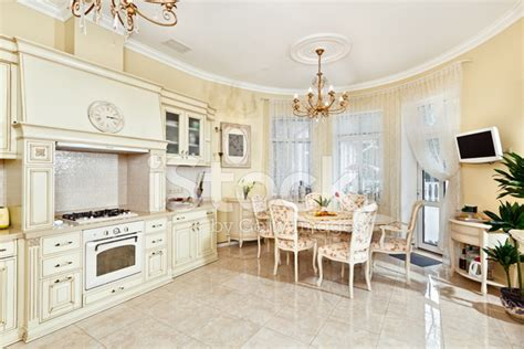 classic kitchen colors classic style kitchen and dining room interior in beige