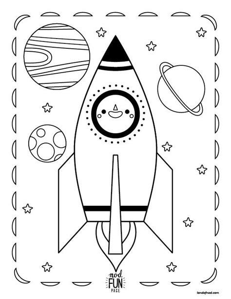 preschool rocket coloring page nod printable coloring page rocket in space coloring