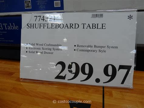 shuffleboard tables for sale costco shuffleboard table