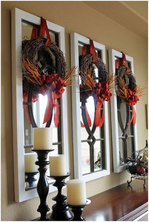 Wreaths In Windows Inspiration Mini Wreaths For Indoor Seasonal Decor Wreath Inspiration Pinterest The Ribbon Fall Home