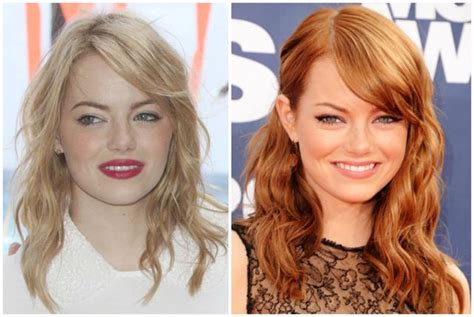 emma stones hair stylist tells us how to get her effed 15 stars who fake their natural hair color the hollywood