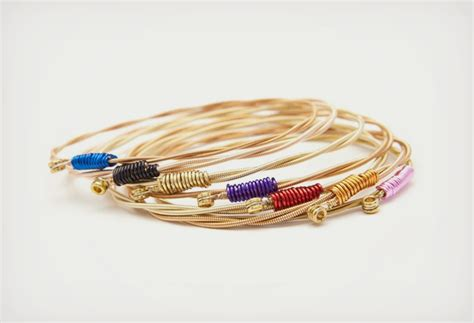 recycled guitar string bracelets gearfuse