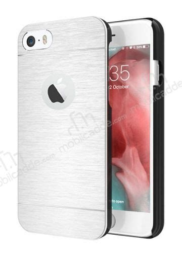 Iphone 6 Motomo Metal motomo iphone 6 6s metal silver rubber k箟l箟f stoktan