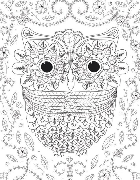 coloring pages of big owl big eyed owl adult coloring page favecrafts com