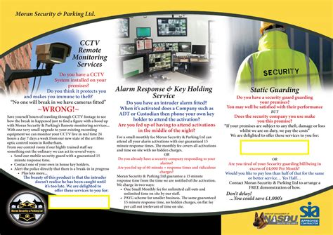 leaflet design for cctv elegant playful brochure design for moran security ltd by