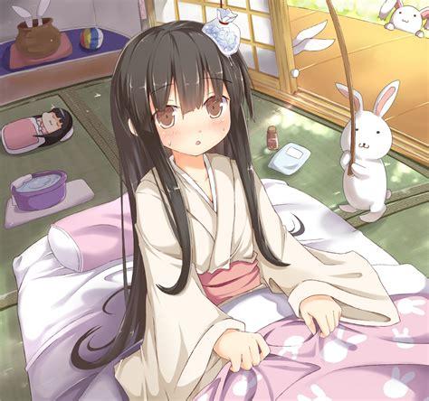 anime futon houraisan kaguya kaguya houraisan touhou image