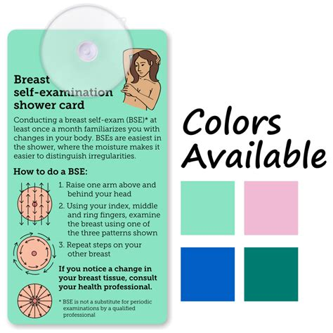 Tg Card Template by Breast Self Examination Shower Card Suction Cup Tag Sku