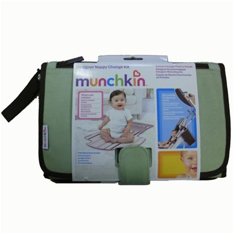 Travel Changing Mat With Wipes by Munchkin Baby Change Kit Portable Nappy Travel Folding