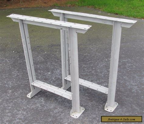 steel benches for sale vintage pair grey industrial mid century steel work bench table legs for sale in