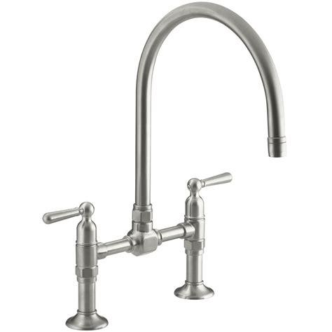 Franke Kitchen Faucet Parts Kohler Hirise Deck Mounted Bridge Kitchen Mixer Tap